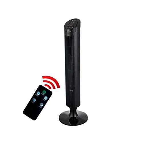 FHDF Oszillierend Turmventilator Standventilator Mit Fernbedienung Tower Fans Tragbarer Klimaanlage Leiser Säulenventilator, Tragbarer Leisem Betrieb, Für Wohn Und Büroräume Black 45W -