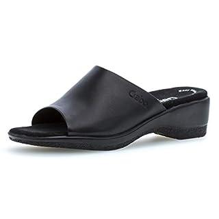 Gabor 26.070 Damen ClogsPantoletten,Clogs&Pantoletten, Frauen,Pantolette,Hausschuh,Pantoffel,Slipper,Slides,Comfort-Mehrweite,schwarz,5 UK