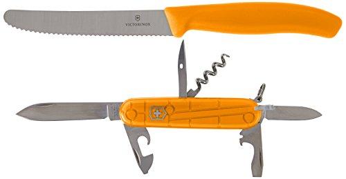 Victorinox Erwachsene Color Twins, orange Taschenwerkzeug, One Size Blue Tomato Knife
