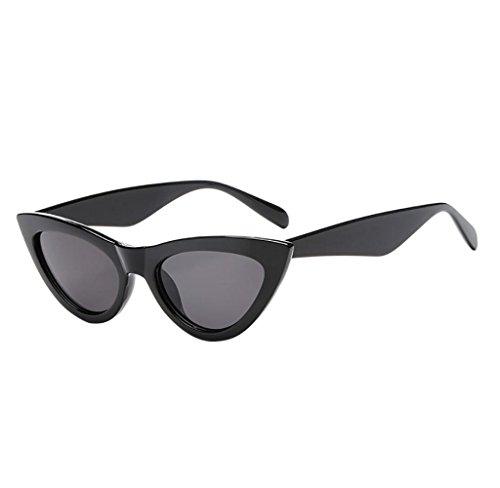 Amcool Klassische Sonnenbrille Unisex Cat Eye Sonnenbrille Rapper Grunge Brillen (A)