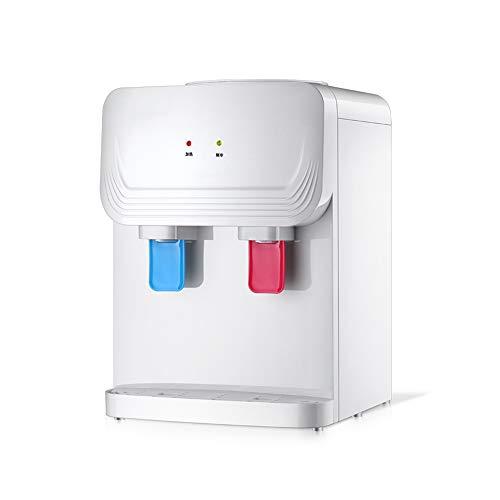 H&RB Aufsatzkühlwasserspender - Warmes und kaltes Wasser für Büro/Zuhause, Weiß,warm/hot - Hot Filter Wasserspender