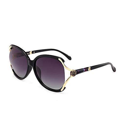 PPOEEWF Polarisierte Sonnenbrille, Elegante europäische und amerikanische Sonnenbrille, Damen-Sonnenbrille mit großem Gestell @ A2