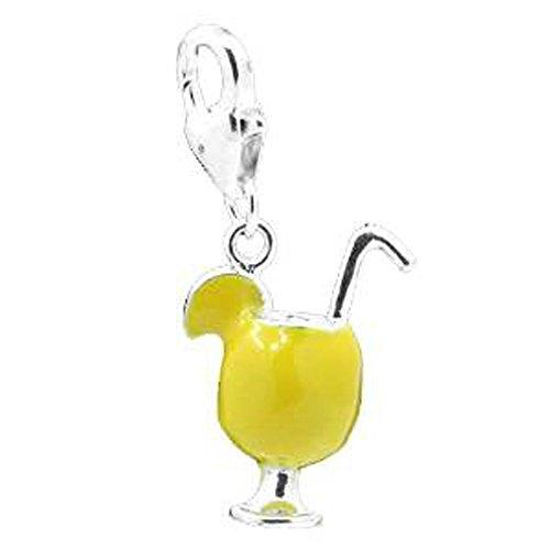Sexy Sparkles Damen Margarita Cup Clip auf Anhänger für Charm Schmuck W/Karabinerverschluss