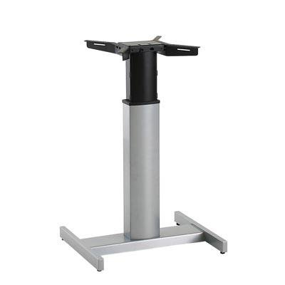 Conset Elektrisch Verstellbarer Mono Säulentisch Stehpult Schreibtisch, Silber