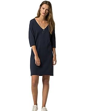 Hilfiger Denim Damen Schlauchkleid Kleid blau 416 (NAVY BLAZER)