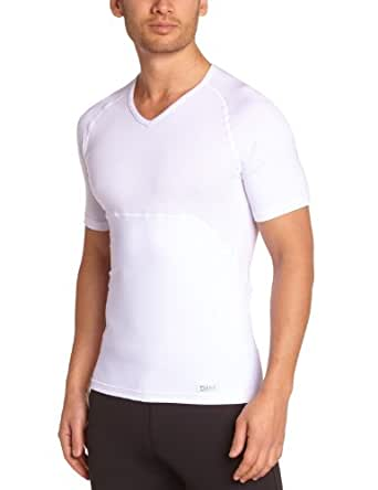 Dim Tee Shirt Sculptant Slim Action - Maillots De Corps - Homme - Blanc (Blanc) - FR : Large (Taille fabricant : 4)