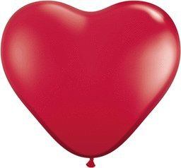 Mayflower Balloons 6600 11 Inch Ruby Red Heart Shape Latex Pack Of 100 by Mayflower Products