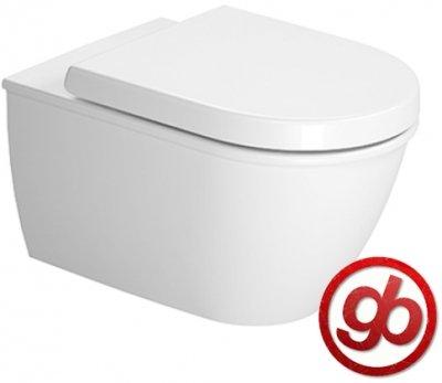 Duravit Wand WC (ohne Deckel) Darling New 540 mm, Tiefspüler, weiss WonderGliss, 25450900001