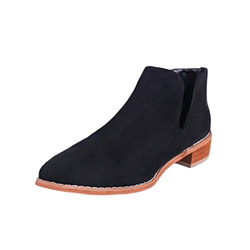 the latest 333d7 e9304 Sonnena Damen Elegant Warm Martin Stiefel Sexy Platz Toe High Heels  Einzelne Stiefel Mode Frauen Nackte Heels Schuhe High Heel Boots Niedrige  ...
