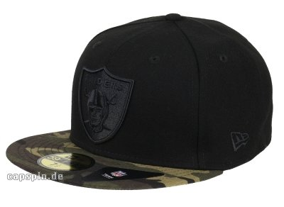 Schwarz Camo-logo-hut (New Era Camo 9Fifty Oakland Raiders Cap camo)