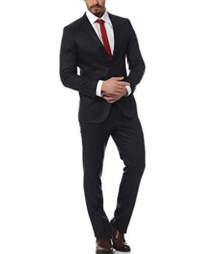 Keskin Slim Fit Herren Anzug Schwarz Modisch - Schwarze Anzug Kostüm