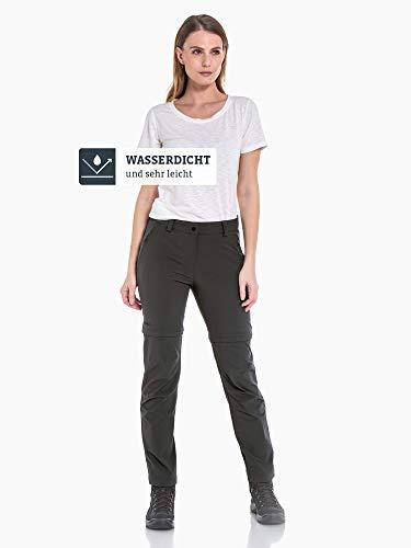 Schöffel Damen Pants Ascona Zip Off leichte und komfortable Wanderhose für Frauen, flexible Outdoor Hose mit optimaler Passform