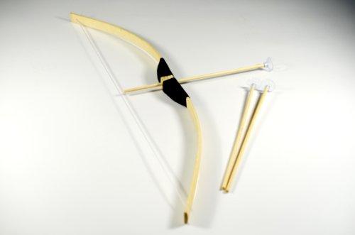 g8ds® Kinder Bogen Bambus 70cm + 3 Saugnapf Pfeile Indianer Holzbogen Set Ritter (Bogen Machen Pfeil Kostüm)