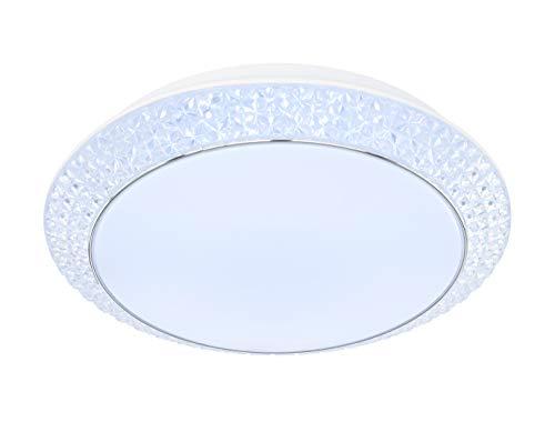 WOFI Innenleuchte, Wohnraum, Deckenleuchte, Deckenlampe, Leuchte, Lampe, dimmen, Memory, weiß, Kunststoff 31 W -