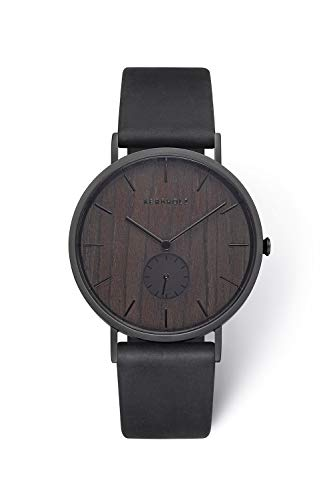 KERBHOLZ Holzuhr - Elements Collection Fritz analoger Unisex Multifunktions Uhr, Naturholz Ziffernblatt,...