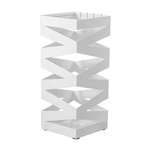 Soporte de Paraguas Color Gris y Blanco Cuadrado 15,5x15,5x49 cm Home Line Parag/üero Modelo Urban Living Metal - Gris Dise/ño Original