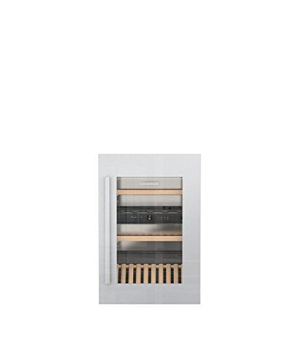 Liebherr ewtdf 1653eingebaut Kombi-Wein-30bottle (S) A-Weinkühler (eingebaut, grau, grau, 4Glasböden, 1Door (S), weiß)