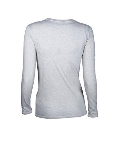 MAJESTIC Damen Langarmshirt mit Kaschmir in Grau 283 perle