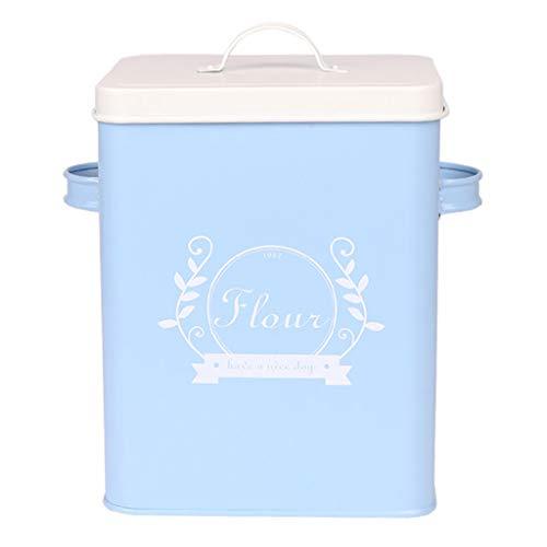 Küche Kornmehl Trockenobst Diverses Vorratsbehälter 5kg Versiegelt Feuchtigkeitsfestes Insektenfestes Mehl Hundefutter Katzenfutter Faß Aufbewahrungsbox Mit Löffel (Farbe : Blau)