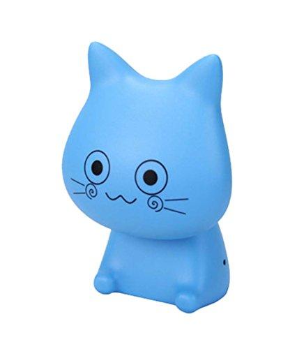 belle liseuse créative USB bleu chat, LED rechargeable lampe de lecture