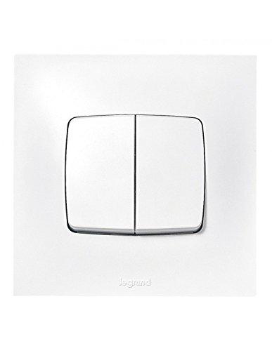 Legrand LEG91321 Neptune Double interrupteur/va-et-vient, 2300 W, 230 V, Blanc
