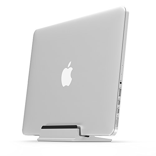 "UPPERCASE KRADL Pro Small Profile Aluminum Vertical Stand for Retina MacBook Pro 13"" or 15"", Silver/Black"
