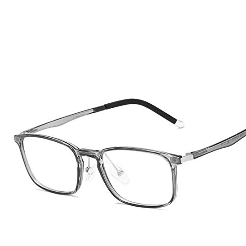 Mkulxina Anti-Blaulicht-Brillen-Silikon-Nasenpads, leichte Business-Computer-Schutzbrillen für Damen und Herren (Color : Gray)
