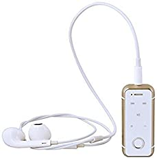 Trosti6s Bluetooth V4.1 Dolby Digital Headset with Mic, Vibration & Call Function for Android/iOS Devices (Gold)