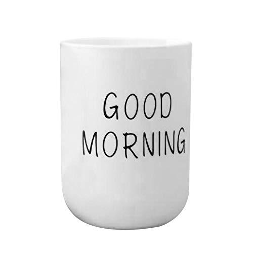grubnos Becher Großhandel Zahnbürste Tasse Persönlichkeit Musik Note Milchsaft Zitrone Becher Kaffee Tee Tasse Home Office Drink Einzigartiges Geschenk, Weiß