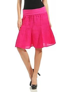 malito figura-amigable verano falda con cinturón tramo midi mini 1580 Mujer Talla Única