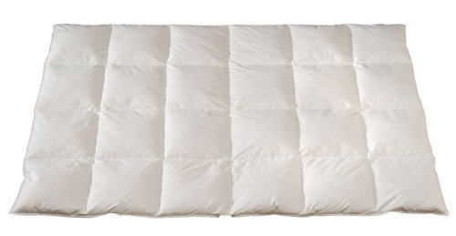 Daunendecke PREMIUM 135x220 cm 90% Daune Kassetten-decke Bettdecke Steppdecke - Wärmestufe 5 Warm