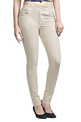 Adbucks Women's Cotton Lycra Jeggings With Elasticated Waistband (Plus Size Also Available)