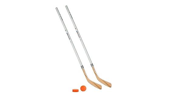 Unbekannt Eishockeyschl/äger-Set Kids 2 2 Vancouver-Schl/äger 95cm gerade Kelle /& Puck