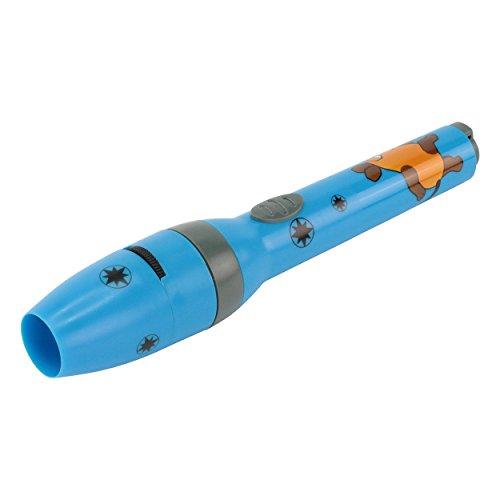 schenlampe für Jungen in blau inkl. Batterien - Projektionslampe mit 5 Mausbildern & LED Taschenlampe in Einem - Die Sendung mit der Maus Leuchte - kleine Taschenlampe Kinder ()