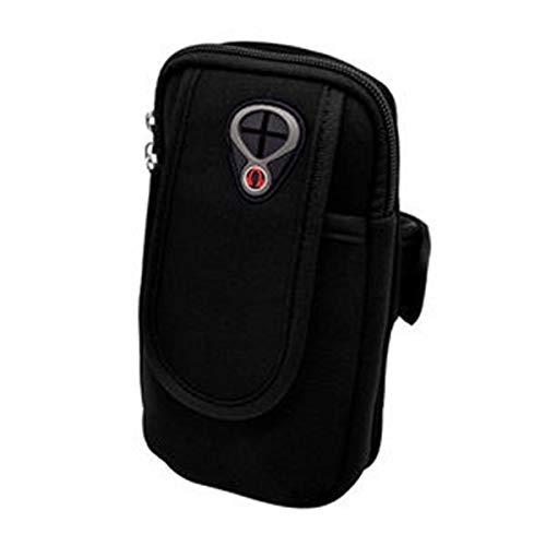 Tianzhiyi Familie unerlässlich Sport-Armband-Taschen-Tasche, Arm-Beutel-Halter für Bargeld-Schlüssel-Kopfhörer-Karten iPhone 6S, Samsung-Galaxie A3 und alle Kleiner als 4,8 Zoll (Color : Schwarz)
