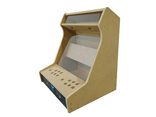 TALENTEC Kit bartop 19' en Madera DM + metacrilato acrílico para recreativa de sobremesa DIY. Orificios de 28 mm para joysticks y Botones.
