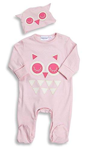Boys Baby Blue Rocket Babygrow-tutina, cappello, gufo rosa, confezione regalo da 0 a 6 mesi OWL 17C205 Neonato