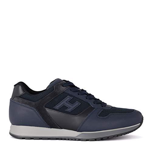 Hogan Sneaker H321 Blu in Pelle Tessuto E Suede, Taglia UK: 7