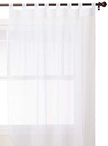Outdoor Decor Vorhang mit Klettverschlüssen für den Außenbereich, Textil, weiß, 54 by 84'