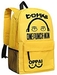 yoyoshome® one-punch Man Anime Cosplay Saitama Daypack Rucksack Rucksack Schultasche (gelb)