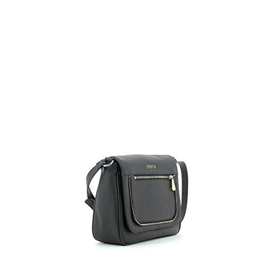 Armani Jeans Borsa Donna Tracolla Zip Gold 9222407A788 NE NERO