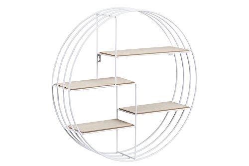 AC Design Furniture Regal Nadine, Bois, Blanc, 10 x 45 x 45 cm