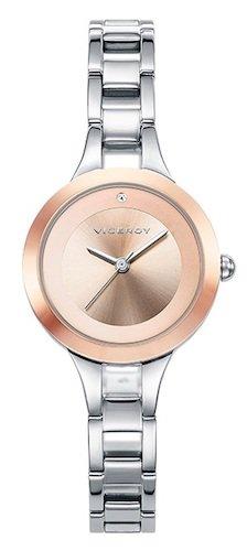 46b6d47f281c Viceroy Reloj Analógico para Mujer de Cuarzo con Correa en Acero Inoxidable  42256-95 ...