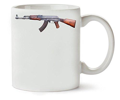 MugsWorld Ak-47 Ultimate Rifle Graphic Klassische Teetasse Kaffeetasse (Ak Target 47)