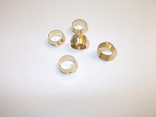Innovo 5x 5/40,6cm Messing Oliven Kompression Rohrverschraubungen Dusche Badewanne Wasserhähne Waschbecken