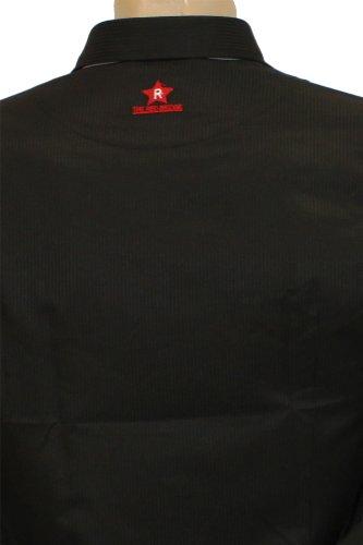 Redbridge by Cipo & Baxx Slim-Fit Langarm Hemd in 2 Farben Schwarz