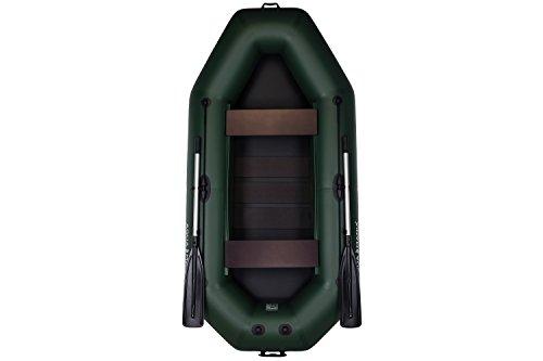Aquamania A-260T Schlauchboot | Doppelboot | Boot mit Rudern | Boot zum Fischen | Paddelboot | Boot für die Jagd auf dem Wasser | Hohe Qualität, Zuverlässigkeit, Garantie vom Hersteller! (Grün)