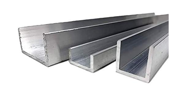 Festnight 4 pcs Aluminium Channels U Profile 2m length 10x10x2mm