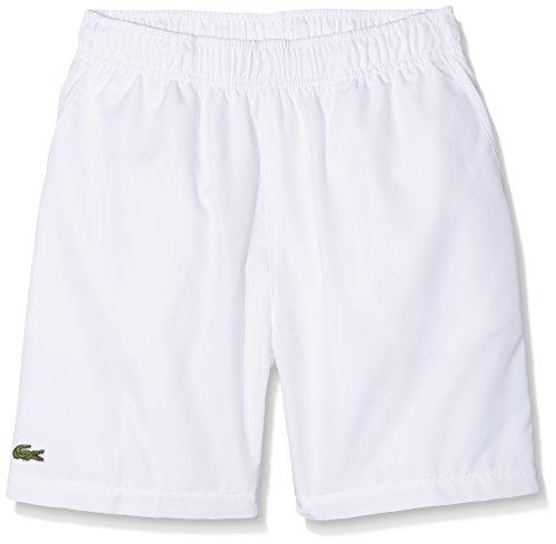Lacoste Sport Jungen GJ8636 Shorts, Weiß (Blanc 001), 140