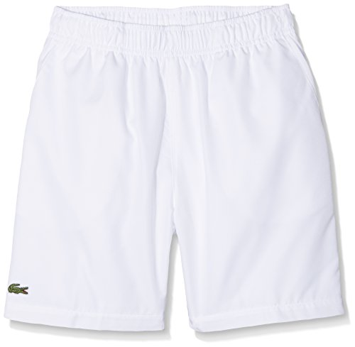 Lacoste Sport GJ8636, Short Garçon, Blanc (Blanc), 10 Ans (Taille Fabricant: 10A)